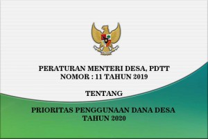 Permendesa Pdtt Nomor 11 Tahun 2019 Tentang Prioritas Penggunaan Dana…