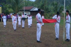 Upacara Bendera HUT RI ke - 74 Desa Jembayan Tengah